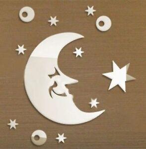 Moon Decorative Shatterproof Acrylic Mirror Gift Bedroom Decor Interior Design