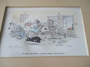 "Signed Henry Brewis Print "" I`ll have t` go mother "".25/500 Unframed"