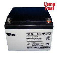 Yucel Y24-12V - 12v 24Ah 12 Volt 24Ah SLA Burglar Intruder Fire Alarm Battery