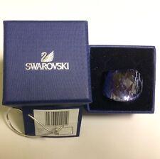 NEW SWAROVSKI NIRVANA RING TANZANITE BLUE SIZE EUR 58/8(L) #892215