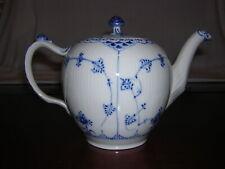 Royal Copenhagen Blue Fluted Half Lace Large Teapot