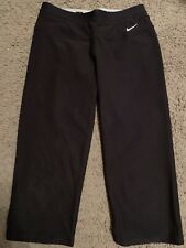 Nike Women's Capri Athletic Fitness Pants Black Workout Pants, Sz Medium Euc
