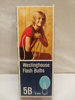 VINTAGE Westinghouse No. 5B FLASH BULBS  BOX OF 12 NEW OLD STOCK
