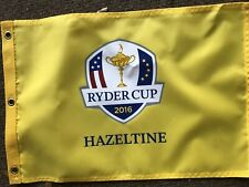 5-2016 Ryder Cup flag hazeltine yellow golf pin flags new USA!