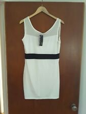 Defdi design ladies off white casual dress small XL check measurements suit 12