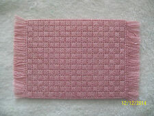 "Doll House Handmade Needlepoint Mauve Pattern Rug  3"" x 5"" - Silk & Wool"
