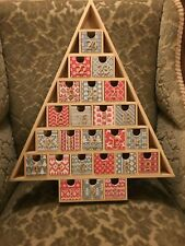 Christmas Tree Advent Calendar in natural wood