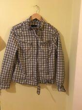 Ladies Back And White Checkered Jacket Size 38 Amisu <M1706