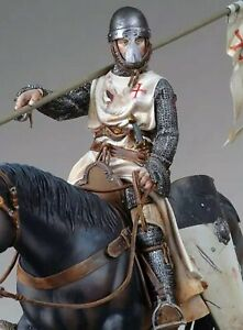 Tin toy soldier 90 mm.Superb Elite Luxury painting in St.Petersburg.Templar