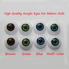 22mm Acrylic Eyes for Reborn Doll Kits BJD Dollfile Luts Ball Joint Dolls 1 pair