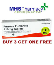 SPECIAL OFFER --Ferrous Fumarate 210mg Iron Tab 84 --BUY 3 PACKS GET 1 FREE!!!!!