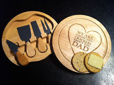 Personalised Cheese Tool Set- Father's Day Dad Mum Anniversary Weddings xmas