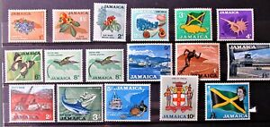 K8 - JAMAICA 1964 & 1969 SETS COMPLETE IN MINT NEVER HINGED COND. ON 2 S/CARDS