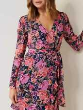 Forever New Larissa floral wrap long sleeve mini dress size 10