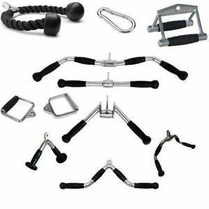Tricep Training Rope Pull Down Strength Enhancement Black Fitness Equipment