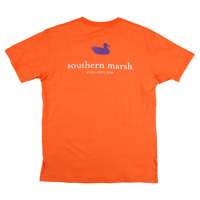 Southern Marsh Authentic Collegiate Orange w Purple X-Large T-Shirt Short Sleeve