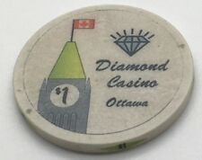 1990s Roaming Canadian Diamond Casino OTTAWA $1 Charity Chip Ontario