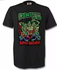 Demented Are Go T-Shirt Psychobilly The Meteors Punk Stray Cats  Rockabilly DAG