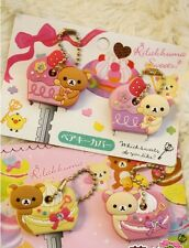 4pc Cute San-x Rilakkuma Relax Bear Key Cover Gift Present Strawberry & Cup Cake