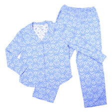 NEW KAREN NEUBURGER BROCADE L/S 2 PC SLEEP PAJAMA LONG PANTS SET 3X 3XL MSRP $66