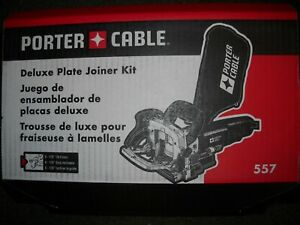Porter Cable 557 7 Amp Plate Joiner Kit Biscuit New
