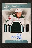 2015-16 SP GAME USED INKED SWEATERS MIKAEL GRANLUND AUTO JERSEY #ED 89/99