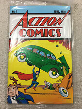 DC ACTION COMICS #1 1938 OFFICIAL REPRINT! COA 1ST SUPERMAN NEW SEALED RARE!