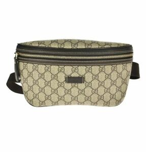 GUCCI GG Supreme Monogram Crossbody Belt Bag  / M360-21140