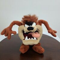 "Vintage Looney Tunes Taz Plush 12"" Tasmania Devil Stuffed Toy Warner Bros 1994"