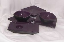 PartyLite Zen Collection 7 Pieces Bowls Plates, Zen Ikebana Tealight Candle Tray
