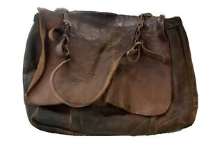 Vintage USPS postal leather mail bag 1962