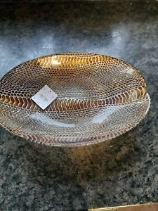 NEW Rare Akcam Turkish Decorative Oval Bowl