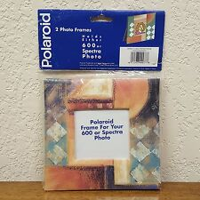 2 Pack Polaroid Picture Frames For Model 600 or Spectra Photos - New Old Stock