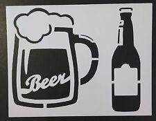 "Beer Bottle Mug Glass 11"" x 8.5"" Custom Stencil FAST FREE SHIPPING"
