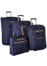 Nautica 4 Piece Spinner Luggage Set, Navy/Yellow
