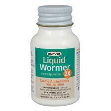Durvet Dog Wormer,2X, Worms 120#/bottle, Pyrantel Pamoate, (generic Nemex)