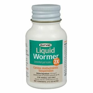 Durvet Dog Wormer,2X, Worms 120#/bottle, Pyrantel Pamoate, (generic Nemex) 2oz