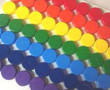 63 Screw Cap Plastic Container Mining Powder Herbs Geo.25oz New DecoJars Usa