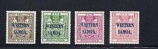 SAMOA 1935 (SG 189-92 2sh6d to one pound NZ Postal Fiscals) VF MH