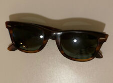 VINTAGE B&L #5022 Ray-Ban USA Wayfarer Tortoise Frame Sunglasses Bausch & Lomb