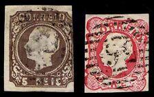 1862-64 PORTUGAL #12 & 14 - USED - F/VF - CV $14.75 (ESP#1900)