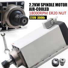 Square Cnc Spindle Air Cooled Motor 22kw 220v Er20 Collet 18000 Rev Min