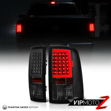 """SMOKED LENS"" 2009-2018 Dodge Ram 1500 2500 3500 Neon LED Tail Lights Lamps PAIR"