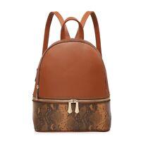 New Leopard Design Backpack Adjustable shoulder straps Bag Black M