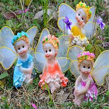 Fairy Flower Angels Ornament Miniatures Resin Bonsai DIY Fairy Garden DecorSC