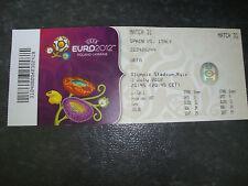 Ticket Final EM Euro 2012 Spanien - Italien Eintrittskarte Ukraine Finale Names