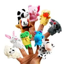Funny 10x Farm Zoo Animal Finger Puppets Toys Boys Girls Babys Party Bag Filler