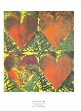 Jim Dine HEARTS L A Eyeworks Printed by Galerie Maeght 1982