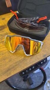 100% Speedcraft Sunglasses w/ additional mirror lens shown. Genuine.