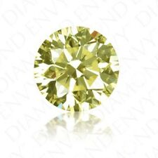 .11ct Loose Natural Brilliant Round Diamond Melee 3.1mm Fancy Yellow I1 Clarity